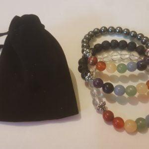 bag and chakra bracelets