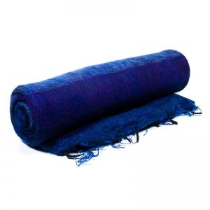 meditation blanket blue violet